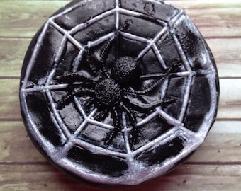 Spider Web Soap, Halloween Soap, Scary Soap, Bath Soap, Gift Soap, Novelty Soap, You pick scent & color