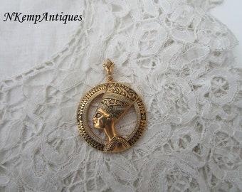 Vintage damascene pendant