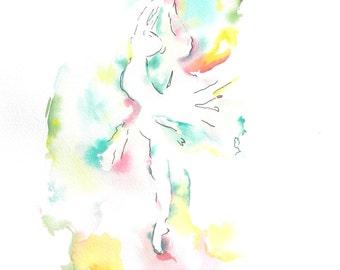 Ballerina Art, Dancer, Watercolor Art Prints, Art Prints, Ballet