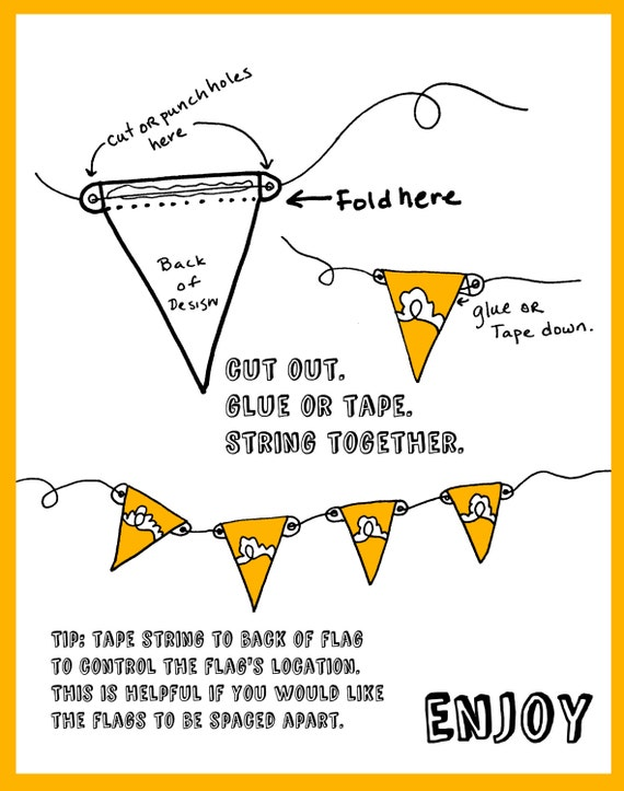 printable diy time to celebrate banner flags