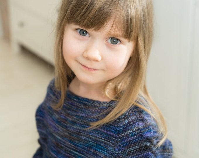 KNITTING PATTERN cable sweater Sini (toddler and kids sizes)