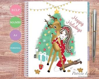Holiday Planner Cover Erin Condren Planner Cover Mambi Planner Cover Happy Planner Cover Personal Dashboard Filofax Dashboard A5 Christmas