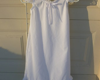 Child's White Cotton Nightgown