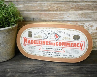 Madeleines de Commercy French Madeleines box - French cookie box - French advertising