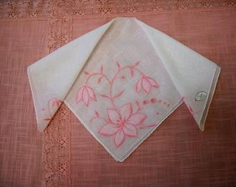 Vintage Appliqued Burmel Handkerchief