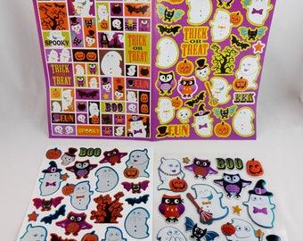 Stickers Halloween, paquet de 131 Stickers, pour scrapbooking, carte papiers et en projets d'artisanat.