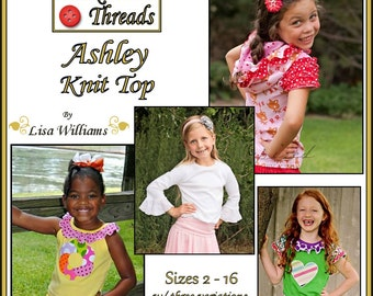 INSTANT DOWNLOAD: Ashley Knit Top - diy Tutorial pdf eBook Pattern - Sizes 2 - 16