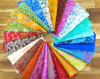 25 pieces of silk remnants, silk fabric scraps