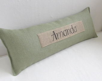 Personalized custom name pillow.