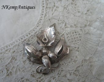 Antique orchid brooch