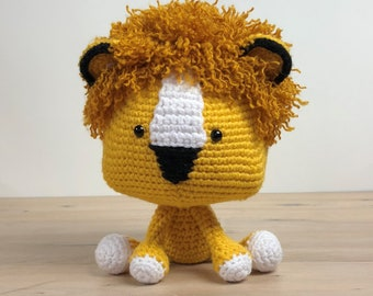 Crochet Lion Animal Amigurumi Lion Toy Crochet Lion Toy Lion Stuffed Animal Amigurumi Jungle Toy Crochet Lion Gift