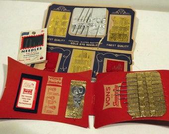 Sewing kits and needles
