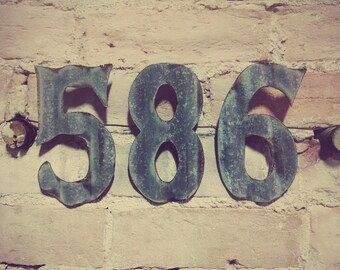 4-inch Corrugated metal Number