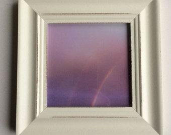 Nursery art, rainbow photo, rainbow art, purple art, purple photo, mauve, lilac, pink