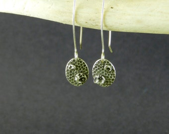 Fine Silver Earrings - Circle Shape - Fine Silver - Contemporary - Earrings - Layered Bubble Discs