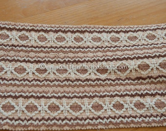 BIG Fun Woven Browns - 3 yards Vintage Trim New Old Stock 60s 70s Edging Fringe WIDE