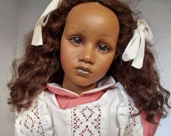 Annette Himstedt Fatou Doll From The Barefoot Children Series