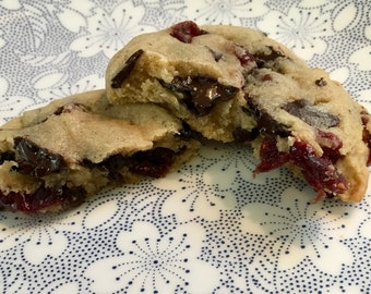 Chocolate chunks with orange flavored cranberries
