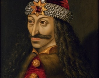 Painting of Dracula, Vlad III the Impaler, Prince of Wallachia (1431–1476), Full Size Canvas Print