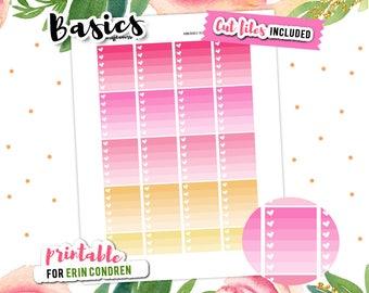 Planner Stickers, Checklist Sticker, Ombre Checklist, To Do Stickers, Valentines Stickers, Printable Stickers, Stickers Sale