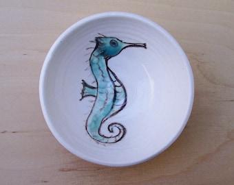 little green seahorse bowl