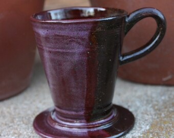 Purple & Earthy Brown Pour Over
