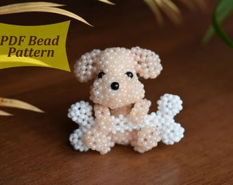 3D Tutorial beaded animals kit, Custom dog, Beaded animals pattern, Bead toy pattern, 3d beading pattern pdf, beaded keychains, bead book