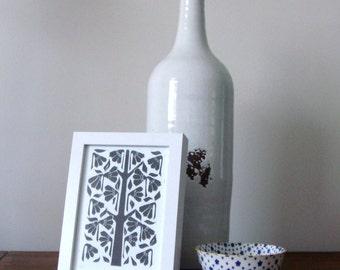 Vine 2014 -Linoprint, original artwork.
