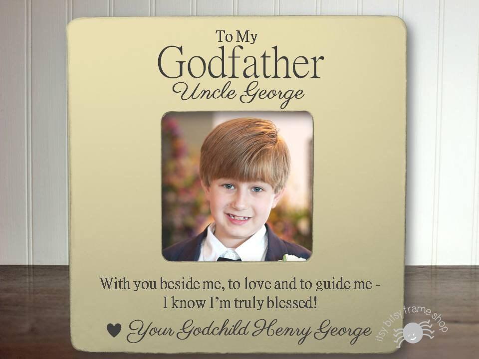 Godfather Gift Godfather Frame Gift for Godfather Baptism Frame ...