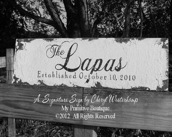 Established Sign | Last Name Sign | PERSONALIZED Family Name Sign | Wooden Name Sign | Wedding Sign | Mr and Mrs Sign | Just Married Sign