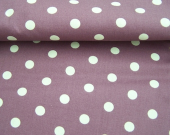 Coupon Burgundy with white polka dots, 50 X 46 cm, cotton fabric