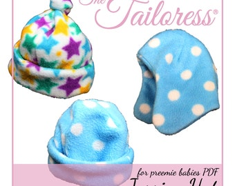 Jessica PDF Sewing Pattern|Preemie Sewing Pattern|Baby Sewing Patterns|Baby Sewing Pattern|Hat Pdf Pattern|Baby Hat Sewing Pattern|Prem Baby