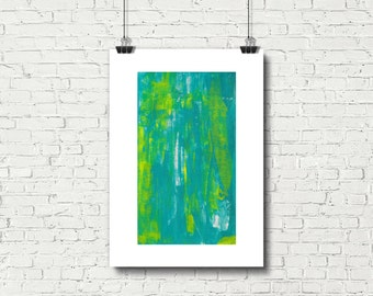 Turquoise Painting, Printable Art, Prints, Bright Wall Art, Instant Download, Acrylic Paintings, Painting Print, Wall Art, Abstract Art
