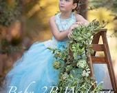Blue Dress Ivory Lace Dre...