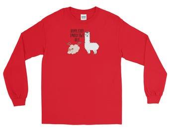 Llama Said Knock Ewe Out Long Sleeve T-Shirt