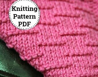 KNITTING PATTERN-Fence Me In, Dishcloth Pattern