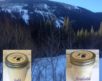 Colorado Mountain Air Candle. Essential Oil Soy Wax Candle. Mountain Home Decor. Handmade Gift. Birthday Gift. Colorado Gift. Nature Candle
