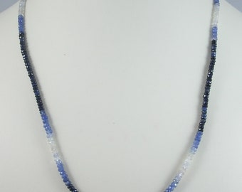 Faceted Sapphire Necklace