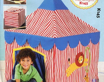 Free Us Ship Sewing Pattern Kwik Sew 145 Ellie Mae Designs Card Table Circus is in Town Pretend Play Tent