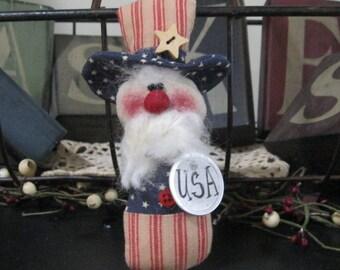 Uncle Sam Bowl Filler, Patriotic Bowl Filler, Uncle Sam Tuck, Patriotic Tuck, Uncle Sam Doll, USA Prim Uncle Sam, Patriotic Decoration, FAAP