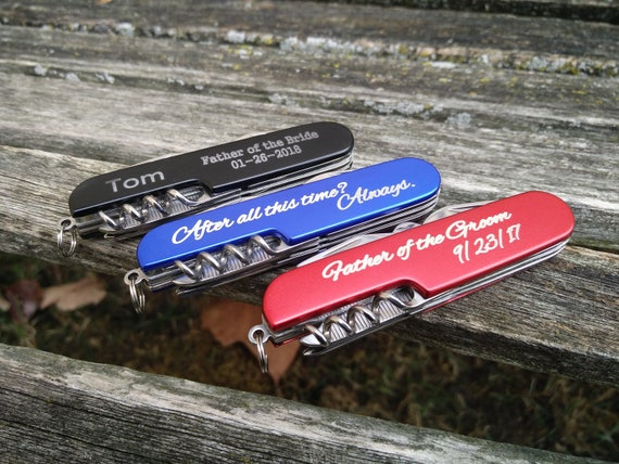Customized Pocket Knives, Laser Engraved. Wedding, Groom, Groomsmen Gift, Dad, Anniversary. Knife, Christmas