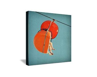 photography, santa cruz photography, mid century photography, mid century carnival, orange - Skyglider I, ready-to-hang canvas
