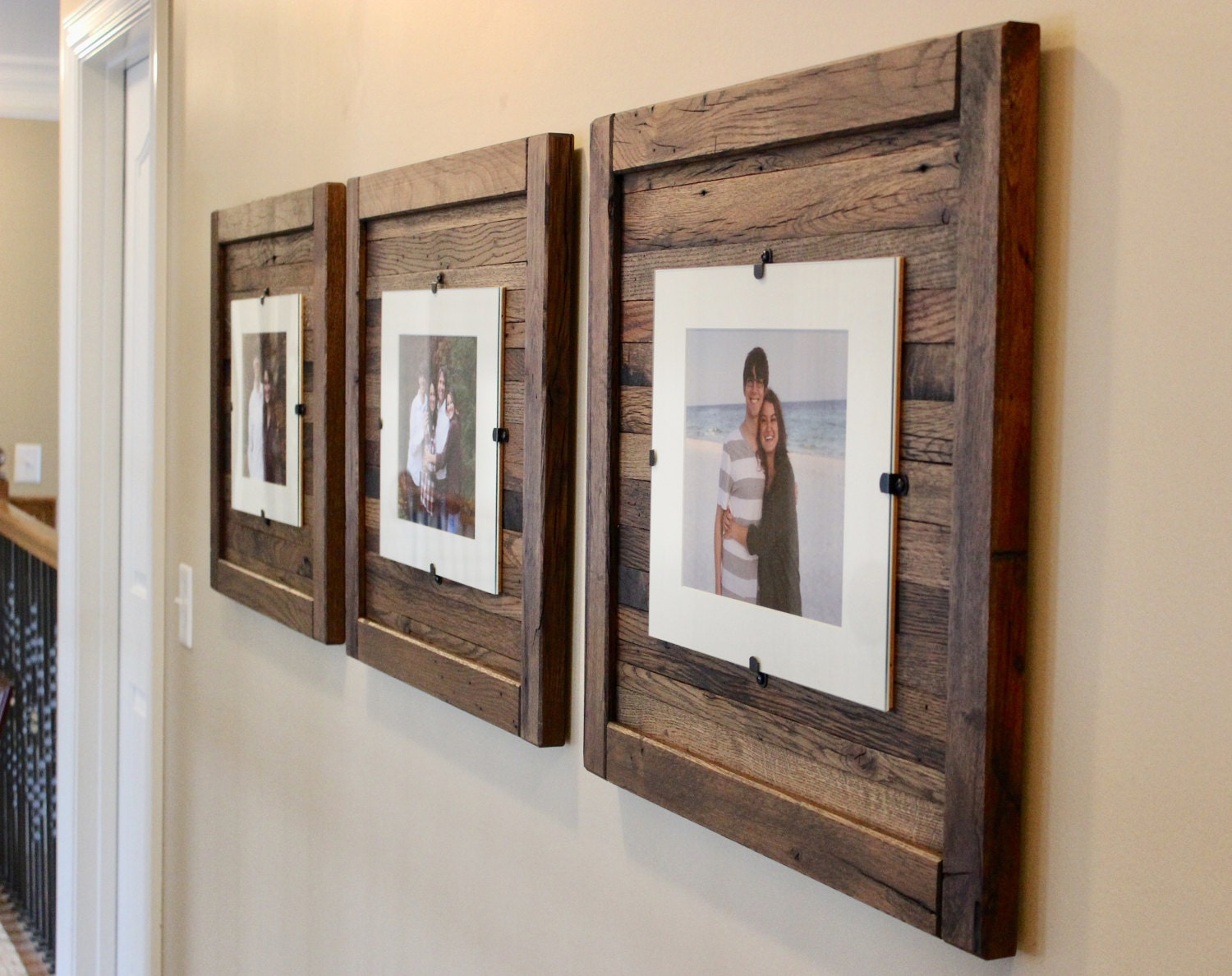 barn wood picture frames. Sold By OakGroveWoodworks Barn Wood Picture Frames