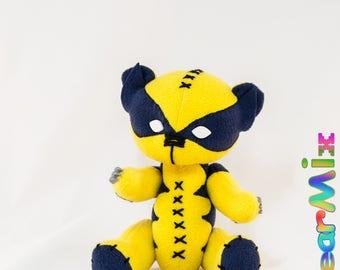 Wolverine bear - marvel superhero movie comic plush toy X-Men Logan