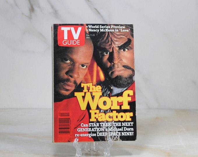 Vintage TV Guide Star Trek Deep Space Nine. October 1995, Michael Dorn, Avery Brooks