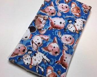Baby boy burp cloths, burp rags, puppy dogs, Item #130