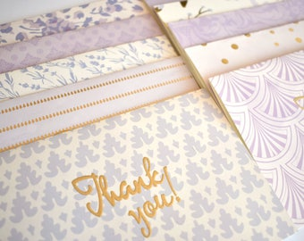 A6 Thank You Card Stationery Set