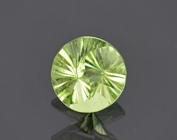Yin Yang Cut Mint Green Peridot Gemstone from Pakistan 2.68 cts.