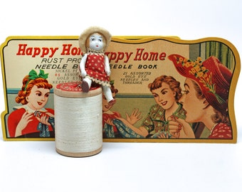 Happy Home Needle Books*Set of 2 Needle Packs*Vintage Sewing Supplies