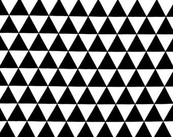 Remix Triangle in Black by Ann Kelle for Robert Kaufman - 1/2 yard increments